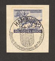 RARE Stamp Germany Sc B204 1942 3rd Reich HAMBURG DERBY HAMBURG