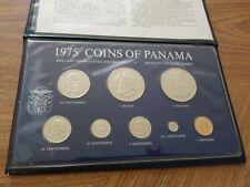 PANAMA 1975-FM BU Specimen 8-coin Set KM MS1 Base metals VERY RARE issued 1,410