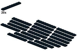 Used LEGO® - Plates - Black - 3460-04 - 1x8 (20Stk) - Platte - Schwarz