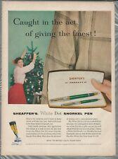 1956 SHEAFFER'S PEN advertisement, Sheaffer Snorkel Pen gift set for Christmas