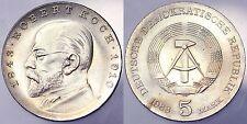 5 MARK 1968 ROBERT KOCH DEUTSCHE DEMOKRATISCHE REPUBLIK DDR #8228