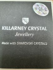 KILLARNEY CRYSTAL SILVER NECKLACE AND PENDANT. MADE WITH SWAROVSKI CYSTALS