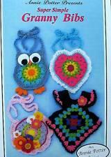 Crochet Super Simple Granny Bibs  Patterns  Annie Potter Original