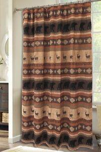 Autumn Trails Shower Curtain - Rustic - Bears & Bucks - Free Shipping