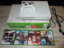 Microsoft Xbox One S 1TB  Konsole Weiß + Controller alle Kabel + 4 Spiele + OVP