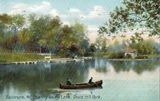 Baltimore,Maryland,Druid Hill Park,Boating on the Lake,Used,1909