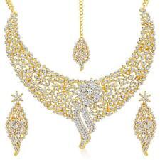 Ethnische Hochzeit Schmuck Choker Halskette Set Frauen Indische Mode Vergoldet