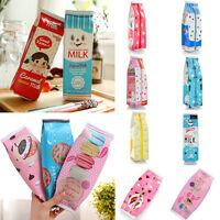 Creative Simulation Milk Cartons Pencil Case Cosmetics Stationery Pouch Pen Bag