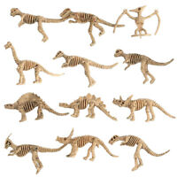 12Pcs Plastic Dinosaur Skeleton Simulation Dinosaurs Model Figures Toys Gift