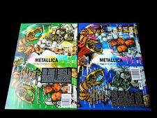 METALLICA/2 JAQUETTES/FILM JACKET VHS SPECIMEN/UN AN ET DEMI DE LA VIE DE /ML/A