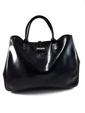 Longchamp Roseau Black Leather Tote Shoulder bag, Women's