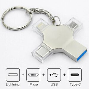 Bru Pen Drive Type c Otg Usb Flash Drive 3.0 For Iphone ipad Android  64gb Pendr