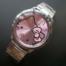 hot sale Women stainless steel Watch Girls Hello Kitty quartz Watch