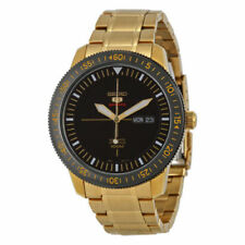 Seiko 5 Men's Gold Plated Band Wristwatches