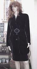 Giorgio Armani Collezioni Italy Black Velvet Trench Style Coat 10
