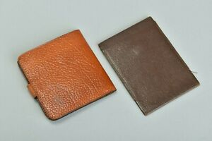 Early C20th Morocco Leather Note Case & 1950s' English Leather Wallet BYI