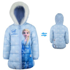 Eiskönigin Elsa Wintermantel Mantel Winter Jacke gefüttert Blau