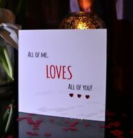 Personalised Valentines Card Wedding Song Wedding Card Any Song Lyrics