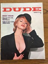 1963 Dude Magazine-The Sex Life of James Bond-Humor Pictorial Article-November
