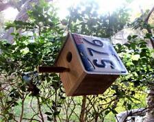 Texas License Plate Bird House Rustic Backyard Decor