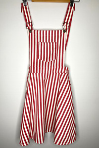 Red and White Striped Jumpskirt ~ Size 12 ~