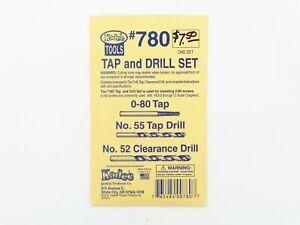 HO Tap & Drill Set 0-80 Tap, #55 Drill, #52 Clearance Drill- Kadee #780 vmf121 <