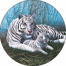 White Tiger & Cub Spare Tire Cover Jeep Rv Camper Vw Trailer etc(all sizes)