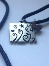 Gorgeous Eco Silver Pendant Made From Recycled Silver - Hearts, Flowers, Star