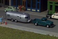 Old Pick up Truck and Camping Trailer N Scale vehicle GREEN