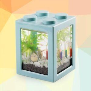 Portable Mini Aquarium Fish Tank Stackable Building Blocks Ecological Tank Pet