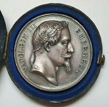 FRENCH SILVER AWARD MEDAL - EMPEROR NAPOLEON III 1866,  BY A. BARRE, 41mm, 37gr