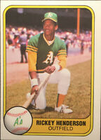 1981 Fleer #574 Rickey Henderson Baseball Card NM