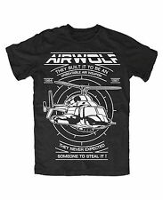 Airwolf premium T-Shirt Helikopter Hubschrauber Kult TV Serie 80er Huckleberry