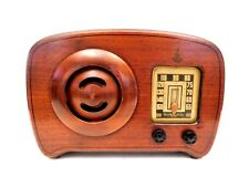 VINTAGE 1930s OLD EMERSON INGRAHAM CABINET CIRCLE GRILLE ART DECO TUBE RADIO