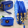Hot Women Cloth Zipper Wallet Clutch Card Holder Coin Purse Solid Color Handbag
