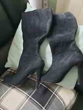 "Womens Black knee high Boots. Size 6. High Heel 4"". Worn Once."