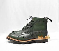 NIB Trickers green Stow Brogue Boot light vibram bottom size UK 10 Sold out