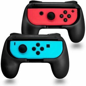 2 x Black Controller Grip Handles for Nintendo Switch Joy-Con