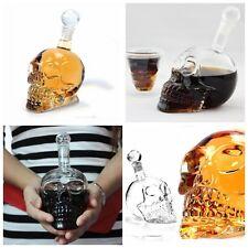 1Pcs 350ML Bouteille Alcool Vin Crâne Skull Cristal Mort Tête Squelette Whisky