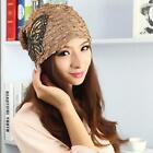 Free Shipping Women Autumn Winter Hat Lace Butterfly Beanie Skullies Turban Cap