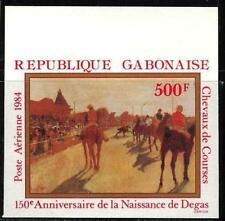 Gabon 1984 Art Paintings Degas Horses imperf. MNH**