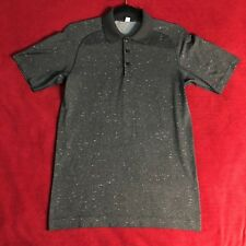 Lululemon Mens Speckle Dark Gray Metal Vent Tech Polo T Shirt Top - Size Small S
