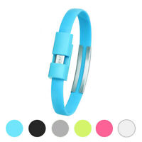 Wristband Micro USB Cable Charger Data Charging Sync For Android Cell Phone
