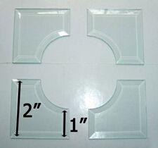 2 x 2 inch Inside Curved Corner Bevel SET (4 pieces) Match 1 inch Wide Bevels