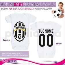 Bodino neonato personaliz. stampa fronte/retro CALCIO JUVENTUS