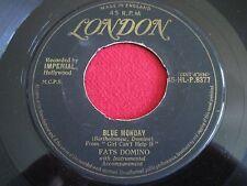 RARE R&B 45 - FATS DOMINO - BLUE MONDAY - UK LONDON GOLD HL-P.8377