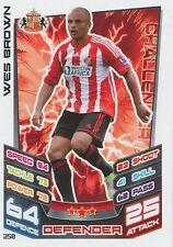 N°258 WES BROWN SUNDERLAND.FC TRADING CARD MATCH ATTAX TOPPS 2013