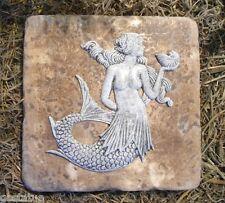 "Gostatue mermaid travertine tile abs plastic mold 6"" x 6"" x 1/3"" thick"