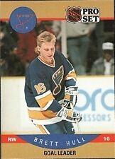1990 Pro Set Brett Hull #395 Hockey Card (Goal Leader)