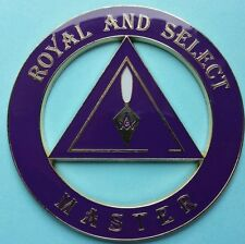 Masonic Royal and Select Master Cut-Out Car Emblem